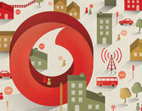 Vodafone / shop illustration