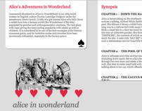 Alice in Wonderland wiki redesign