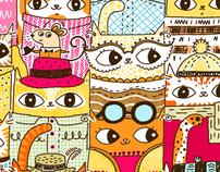 Jive Cats 1,000 pc puzzle, Andrews Blaine/Barnes Noble