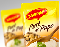 Maggi Packaging Concept and 3D visualization
