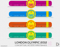 London Olympic 2012 Conceptual Wristbands