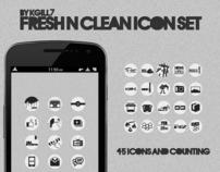 Fresh N Clean Icon Set