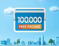 100,000 FREE phones in 101 Days!