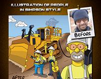 Simpson-style Characters: Dozer