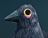 3D Happy Crow
