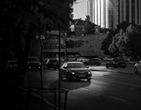 Atmosphere.  Black and White City Photography