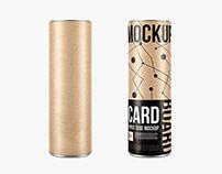 Kraft Paper Tubes Mockup (Free)