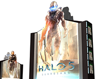 Retail Displays: Xbox HALO 5 Guardians Pre-Launch