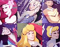 Disney Characters - Paper Cut illustration