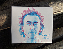 """""""Federn"""" / Hubert von Goisern / CD cover illustration"""
