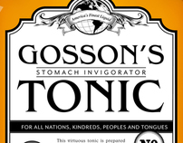 Gosson's Tonic label