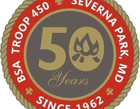 Boy Scouts Troop 450 - 50th Anniversary Logos
