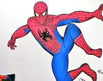Spiderman Wall ilustration