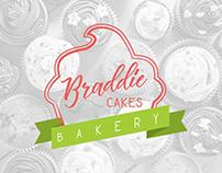 Braddie Cakes Bakery - Brand Identity/Store Mockup