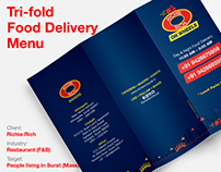 Richie Rich Tri-fold Food Delivery Menu