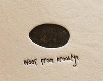 Woof from Brooklyn letterpress postcards