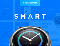 (Free PSD) UI Mobile Watch Tech Fashion