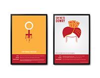 Minimal posters as on Satyamev jayete episode