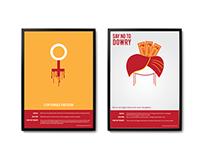 Minimal posters as on Satyamev jayete episode