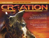 Creation Magazine 33(4) cover design