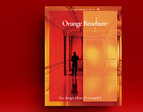 Orange Brochure Layout