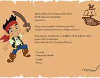 Little Pirate _ Christening invitation