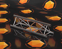 1M Triangular Truss Free 3D Model