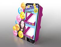 Mentos 2 tier CDU - 3D visual and design