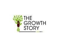 """LOGO DEVELOPMENT FOR CLIENT """" THE GROWTH STORY"""""""