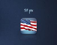 "iPhone application icon ""US Calendar"""