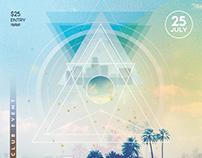 Beach Remix - PSD Flyer Template
