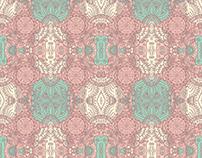 Pattern realizado a partir de mandala ilustrado