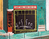 Agape Sofia Coffee Bar painting