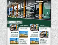 Edile Construction web graphic design