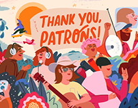 Patreon - Thank You Patrons Campaign 2019