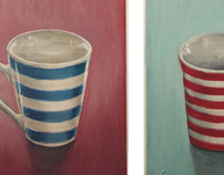 Stripy cups. 2012