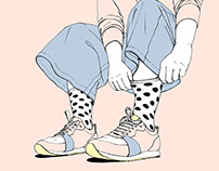 Funny socks / packaging y estampado