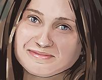 hand-drawn portrait