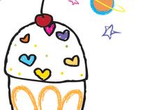 """Logo Pastelillos """"La Espacial"""""""