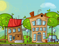 How to Create a Cartoon House and a Tree in Illustrator