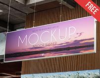 Free Indoor Banner Mock-up in PSD