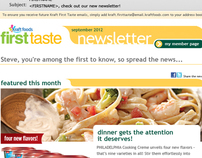 Kraft First Taste Newsletter Re-Design