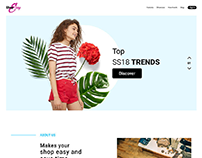 Shopping Website - Landing page