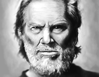 Jeff Bridges Portrait illustration