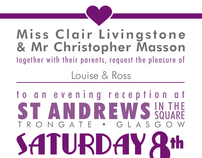 Chris and Clair - Wedding Stationary