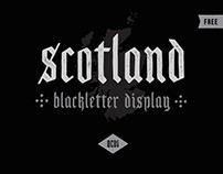 Free Scotland Blackletter Display Font