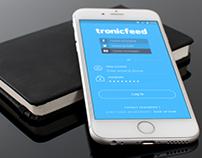 TronicFeed - App UX/UI Design