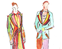 Costume sketches for The Greatest showman