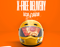 x-pizza free delivery