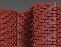 How to create a curved brick wall in 3DsMax